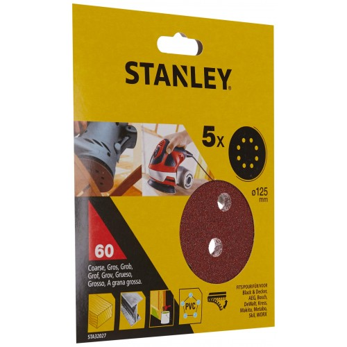 Σετ 5 δίσκοι λείανσης -60g-125mm στρογγυλό