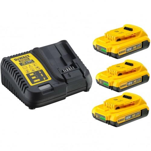 XR Πολυφορτιστής με τρεις μπαταρίες  3x 2.0AH 18V