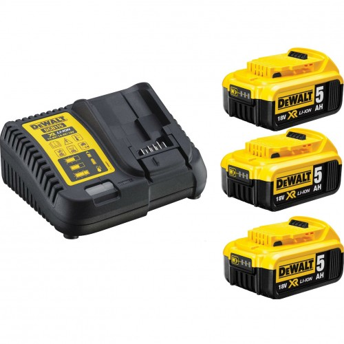 XR Πολυφορτιστής με τρεις μπαταρίες 3Χ 5.0AΗ 18V