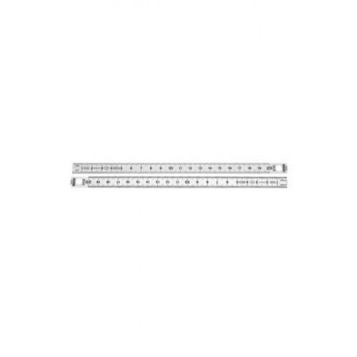 Χάρακας από Ανοξείδωτο Ατσάλι μίας Όψης 100cm