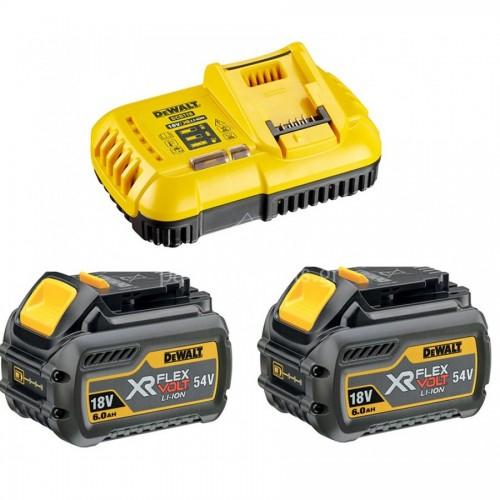 54V/18V 2.0/ 6.0AH XR Flexvolt φορτιστής ταχείας φόρτισης για XR με 2 μπαταρίες DCB546 54V/18V 6.0AΗ