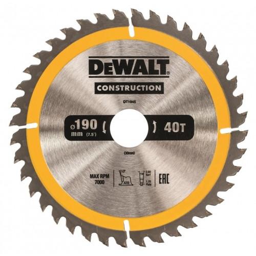 Δίσκος ξύλου - construction - 190mmx30x40 - Δόντια