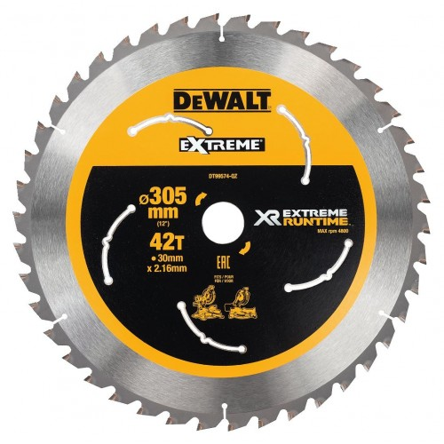 Δίσκος ξύλου 305X30mmx42 δόντια XR Flexvolt XR Extreme runtime