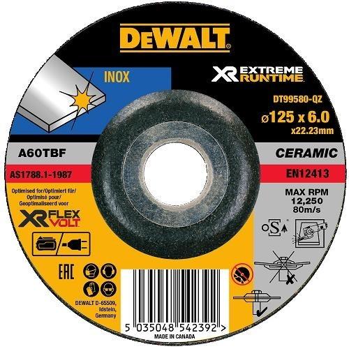 Τρίφτης σιδήρου S/Stell 125X6.0X22.23mm XR Flexvolt