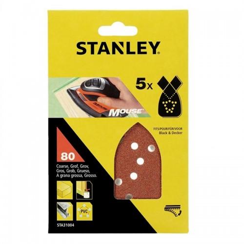 Σετ 5 φύλλα λείανσης -80Β- για mouse με τρύπες