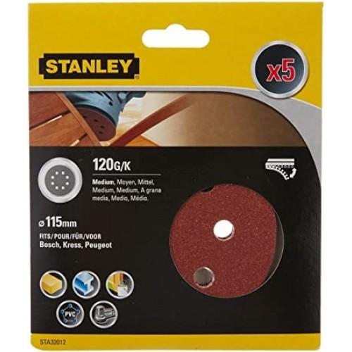 Σετ 5 δίσκοι λείανσης 120g-115mm στρογγυλό