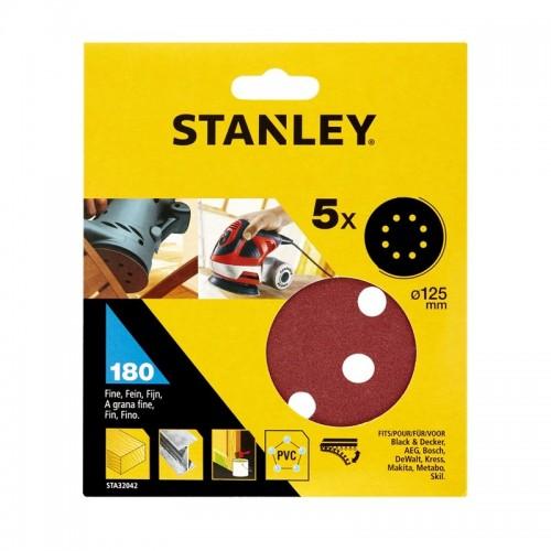 Σετ 5 δίσκοι λείανσης -180g-125mm στρογγυλό