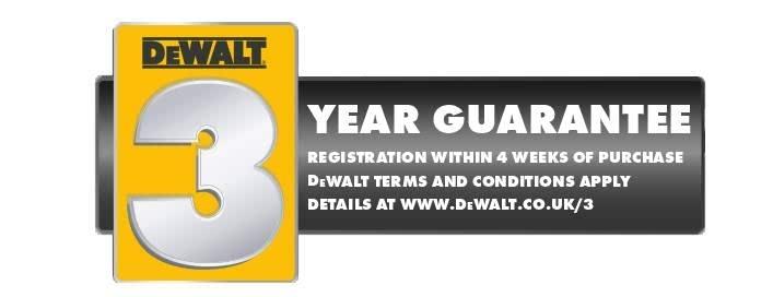 DeWalt 3 year     Guarantee