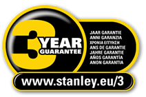 Stanley 3 year Guarantee